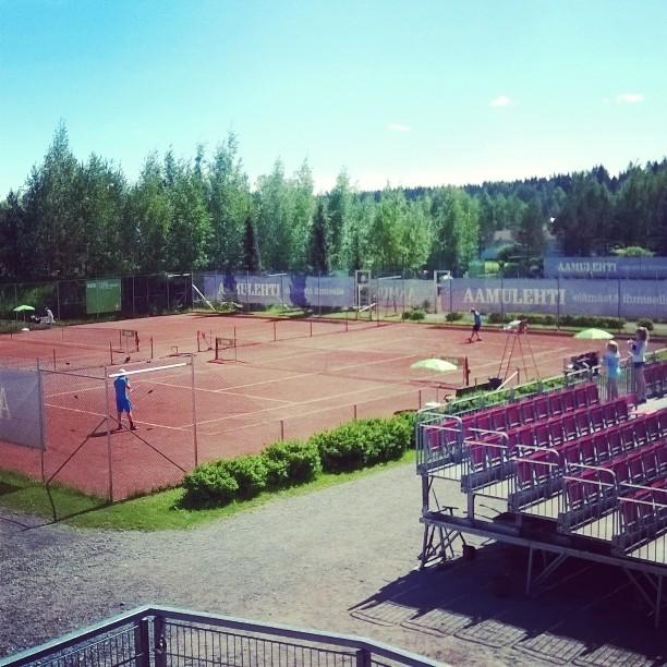 SM-kisat jatkuvat Tampereella hienoissa puitteissa. #tennis #oulu #Tampere #kesä