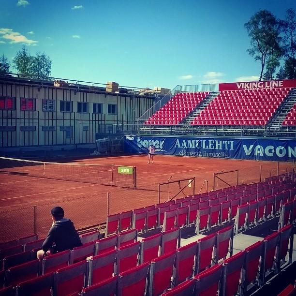 Puitteet hyväksyttävää tasoa Tampereella. #tennis #oulu #SM