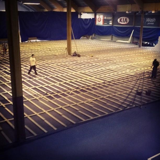 Nallisportin 3 & 4 työn alla. #tennis #oulu #nallisport #kehitys